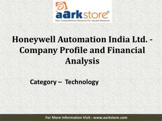 Company Profile of Honeywell Automation India: Aarkstore.com