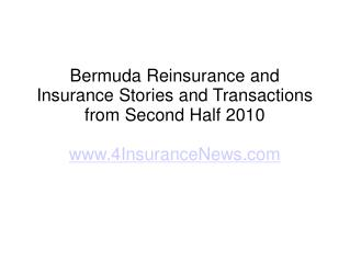 bermuda insurance news (reinsurance trends)
