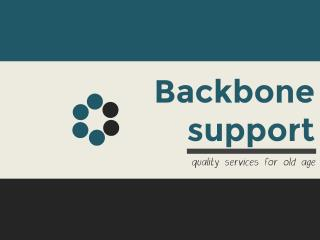 Backbone support for senior peoples
