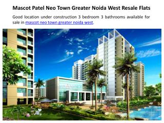 Resale Apartment in Noida(Greater Noida West)
