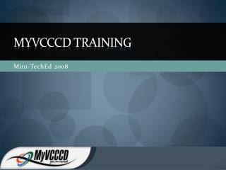 MyVCCCD  training