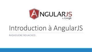Introduction à Angularjs