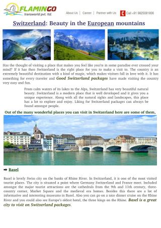 Switzerland: Beauty in the European mountains