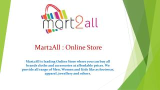 Mart2All : Online Store