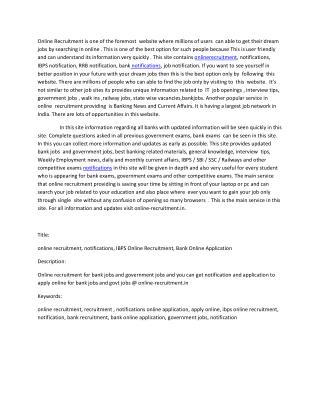 online recruitment, notifications
