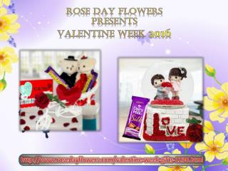 Exquisite Valentine Week Gifts at Rosedayflowers.com