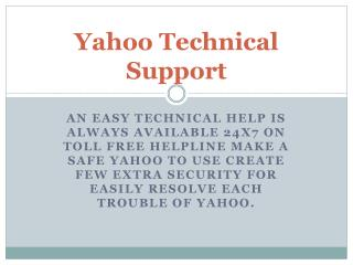 Yahoo Mail Technical Support