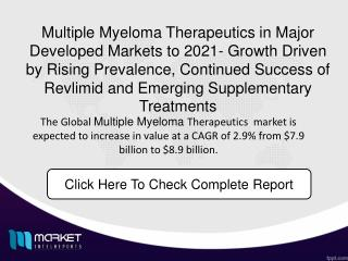 Multiple Myeloma market landscape has undergone significant change over the past two decades. Forecast 2021.