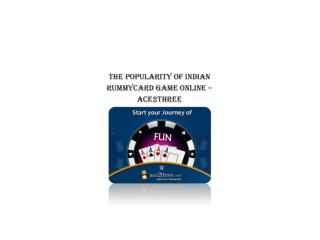 The Popularity of Online Rummy Card Game – Ace2Three