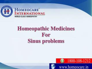 Clearup your sinus infections with Homeopathy