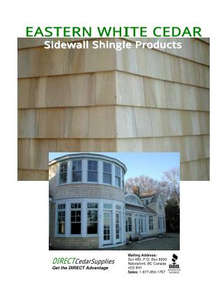 Western Shingle Products And Red Cedar Shake - Direct Cedar Supplies