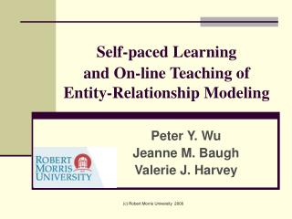Self-paced Learning  and On-line Teaching of Entity-Relationship Modeling
