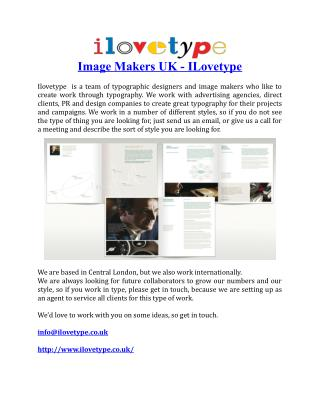 Image Makers UK ILovetype