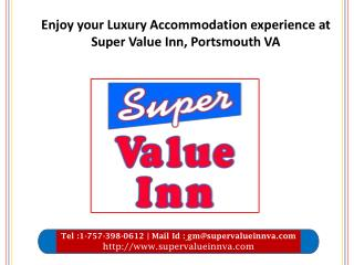 Enjoy your Luxury Accommodation experience at Super Value Inn, Portsmouth VA