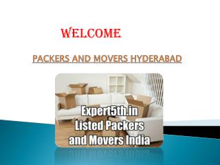 Get All Home Services at Packers Movers in Hyderabad