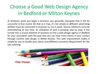 Choose a Good Web Design Agency in Bedford or Milton Keynes