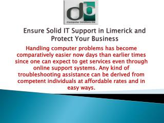 Ensure Solid IT Support in Limerick and Protect Your Business