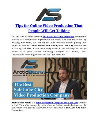 Tips for Online Video Production That People Will Get Talking