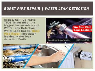 Burst Pipe Repair