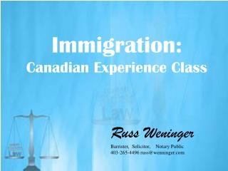 Canadian Experience Class in Calgary Immigration