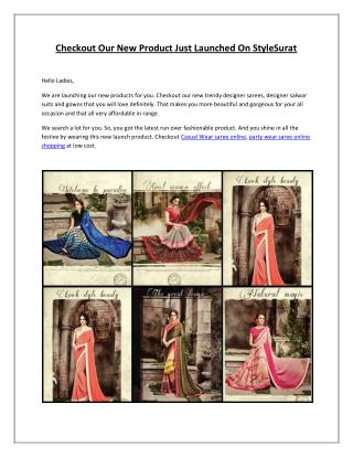 Checkout Our New Product Just Launched On StyleSurat