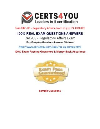 How to pass the RAC US exam?