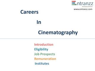 Careers In Cinematography