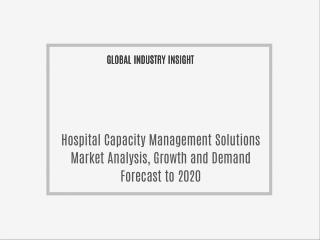 Hospital Capacity Management Solutions Market Analysis and Demand By P&S Market Research