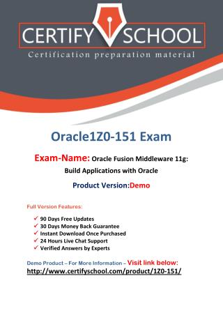 1Z0-151 Oracle Latest Exam Brain Dumps