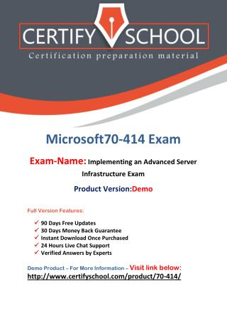 70-414 Microsoft Latest Exam Brain Dumps