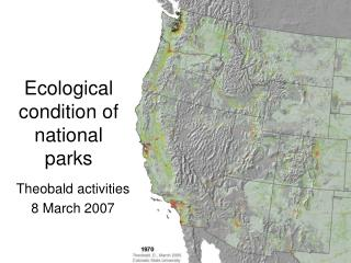 Ecological condition of national parks