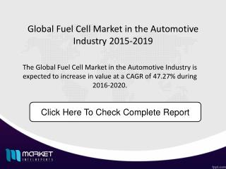 Global Fuel Cell Market in the Automotive Industry Market Size forecast 2019