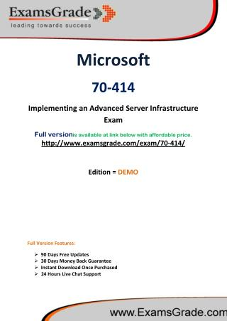 70-414 Best Latest Exam Questions