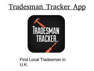 Find Local Tradesmen in United Kingdom