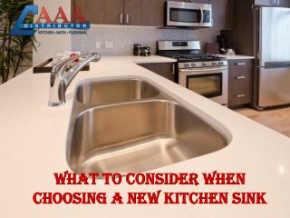 Tips for Kitchen Sink Selection