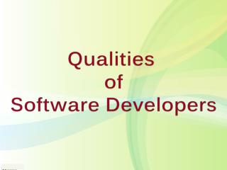 Qualities of Software Developers
