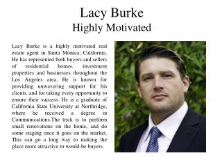 Lacy Burke Highly Motivated