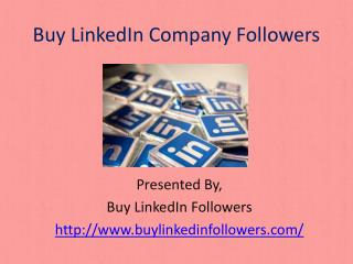 Buy LinkedIn Company Followers