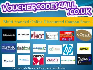 Multi branded Online Discounted Coupon Store