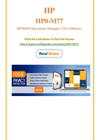 HP0-M77 HP Certification Score Training