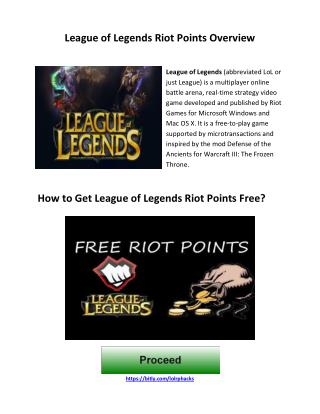 How to Get League of Legends Riot Points Free