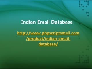 Indian Email Database