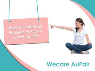 Three Tips for Host Families to Pick a Good Au Pair
