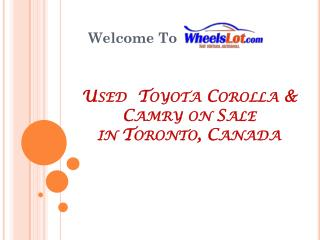 Used Toyota Camry on Sale in Toronto