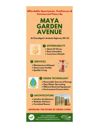 Affordable Flats in Zirakpur by Maya Garden Avenue