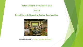 Retail Contractors, Commercial & Mall General Contractors