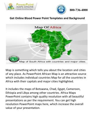Online Editable Africa Maps PowerPoint Presentations