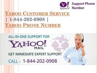 Yahoo Mail Support Phone Number 1-844-202-0908
