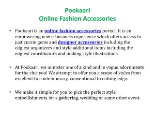 Fashion Accessories - Pookaari