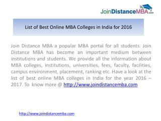 Looking for Best Online MBA Colleges in India?